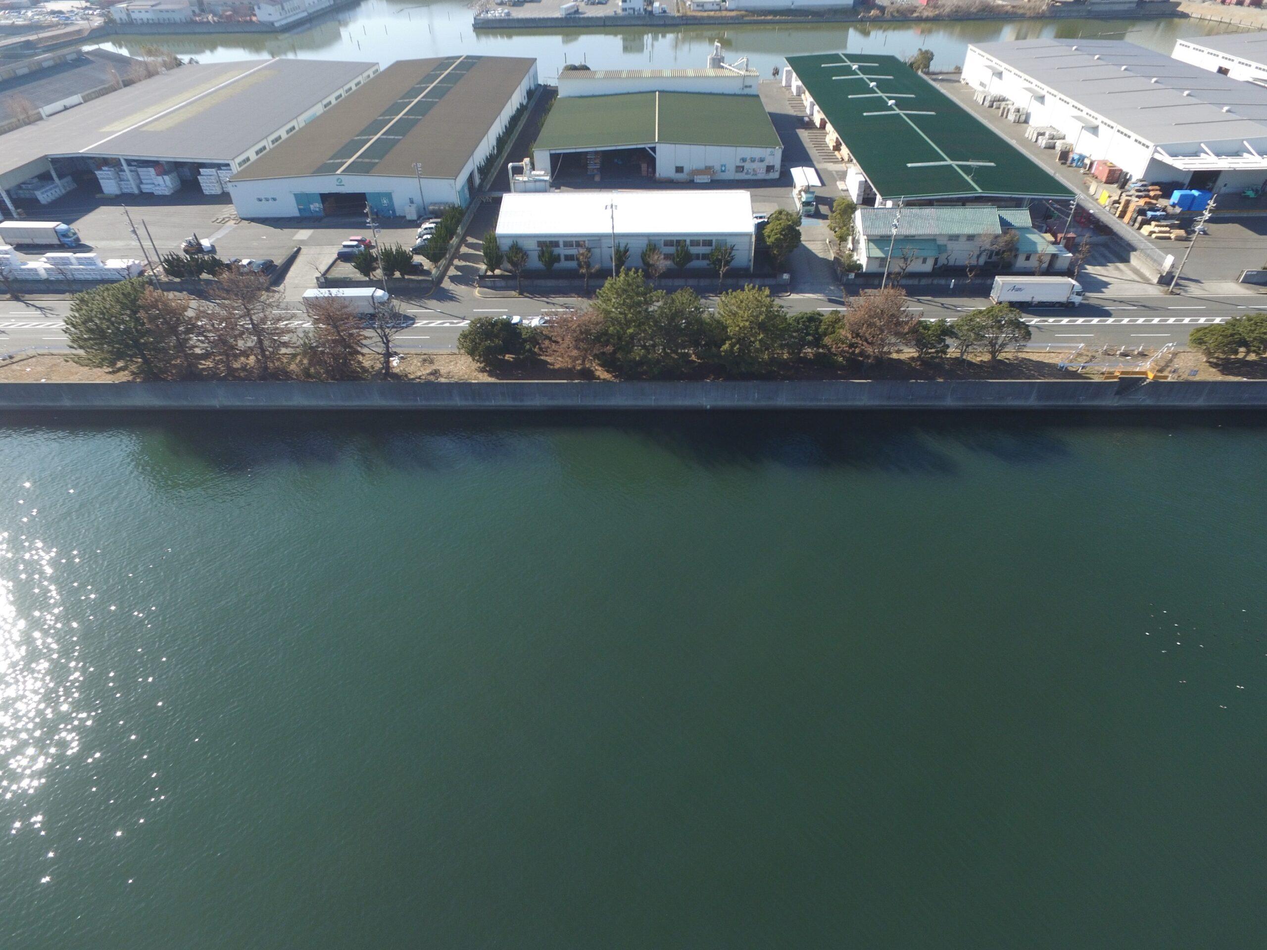 海部建設株式会社の港湾工事(弥富ふ頭第1貯木場北側地盤改良工事(その1))